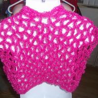 HANDMADE CHILDS CROCHET BOLERO by nannycheryl original ID NO 909C (box 30)