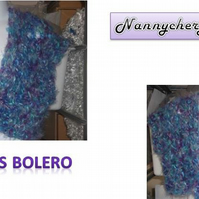 HANDMADE CHILDS CROCHET BOLERO by nannycheryl original ID NO 918E (box 27)