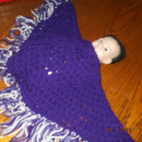 HANDMADE  CROCHET BABY PONCHO  (PREMATURE OR DOLL)  833  cjh S12