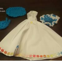Handmade white dress hat bolero bag  for Barbie (nannycheryloriginal) 1046 cjh S