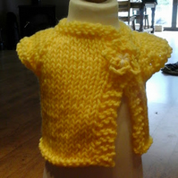 HANDMADE Premature yellow Knitted Cardigans by nanny cheryl originals 1010 cjh20