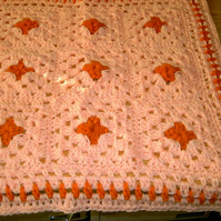 PREMATURE  BABY OR DOLL CROCHET BLANKET  759 cjhS5