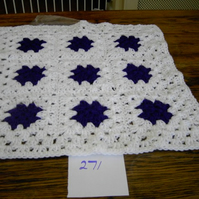 PREMATURE  BABY OR DOLL CROCHET BLANKET  741   cjhS5