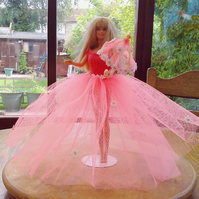 Handmade Ballgown with hat and parasol for barbie 789 cjh S22