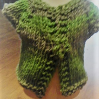HANDMADE Multi Green Grey Chunky Premature Knitted Cardigans 1023  cjh20