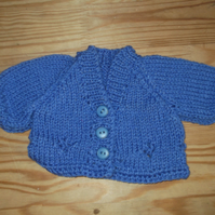 Handmade knitted cardigan for premature baby purple  962 cjh22