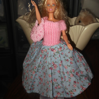 Handmade  dress 50's style Barbie Dolls   (nannycheryloriginal) 1038 cjh S20