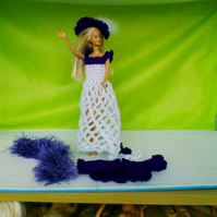 Crochet Dress, Stole, Cardigan, Hat, for Barbie Doll Handmade,  813 cjh S55
