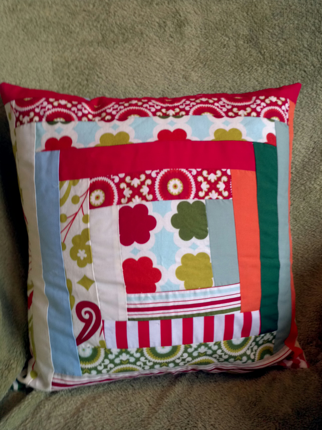 Handmade Patchwork Maze Cushion