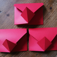 Origami Envelope Set - red