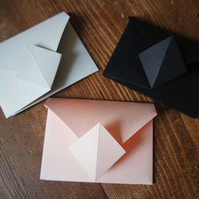 Origami Envelope Set - grey, pink, black
