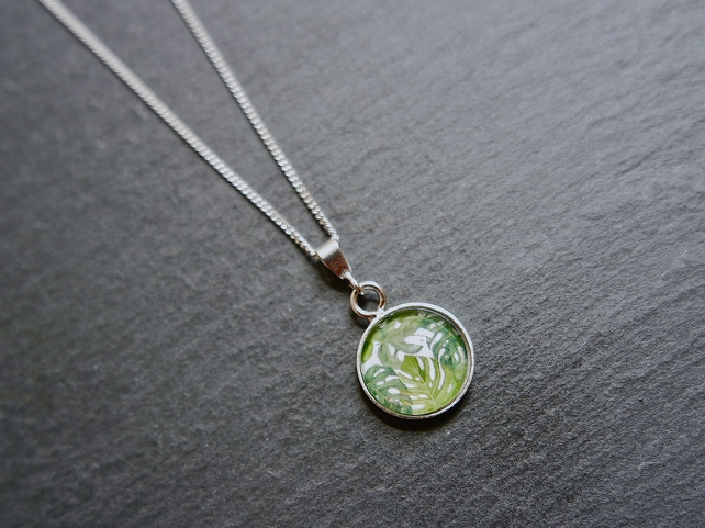 Necklace - Sterling Silver Monstera Leaves