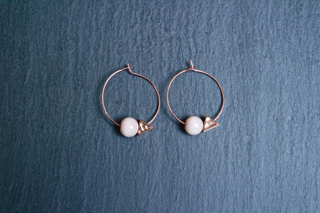 Hoops - rose gold minimalistic geometric
