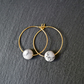 Minimal Gemstone Hoops Gold Howlite