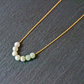 Necklace - Jade gold plated