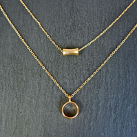 Necklace - layered gold plated