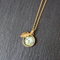 Necklace - tropical monstera palm