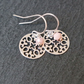 Floral Mandala Charm Earrings - 925 Silver Pink Opal