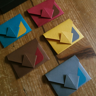 Mini Origami Envelope Box Set - vibrant colours