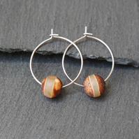 Stainless Steel Tibetan Bead Hoops