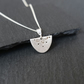 Fine Silver Necklace - Heirloom Collection semicircle little dottie flower