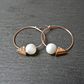 Hoops - rose gold filled minimalistic geometric
