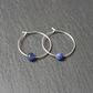 Sterling Silver Hoops - Sodalite Beads
