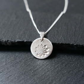 Fine Silver Necklace - little flower