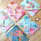 Origami Envelope Set 5 - Tropical Flowers in Pastel Shades Glitter
