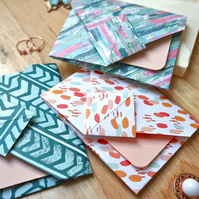 Origami Envelope Set - Watercolour Style Pastel Tones