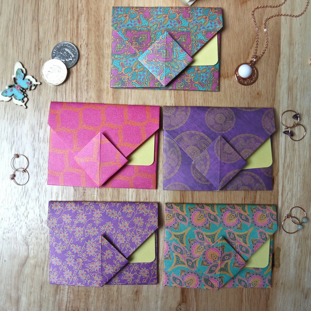 Origami Envelope Set 5 - Oriental Flowers