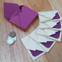 Mini Origami Envelope 5er Set - purple violet lavender