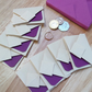 Mini Origami Envelope Set of 8 - purple violet lavender