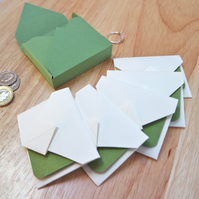Mini Origami Envelope 5er Set - green sage