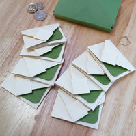 Mini Origami Envelope Set of 8 - green sage