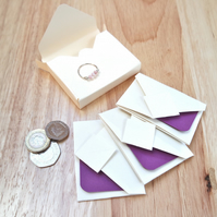 Mini Origami Envelope Box Set - purple violet lavender