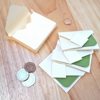 Mini Origami Envelope Box Set - green sage