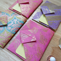 Origami Envelope Set 4 - Oriental Flowers