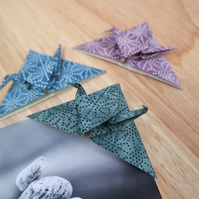 Origami Bookmark - Set of 3 Japanese Paper Cranes