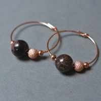 Rose Gold Filled Hoops - Jasper