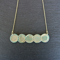 circle bar turquoise Gold Vermeil Sterling silver Necklace