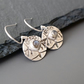 Labradorite Fine Silver Earrings, Mandala Flowers - Heirloom Collection