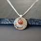 Sunstone Fine Silver Necklace - Heirloom Collection Ornament
