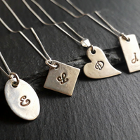 Personalized initial necklaces, letter necklaces