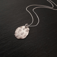 Viking Runes Pendant - Fine Silver Necklace
