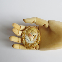 Hand Painted Cameo Sailor Brooch - Dottie Dollie