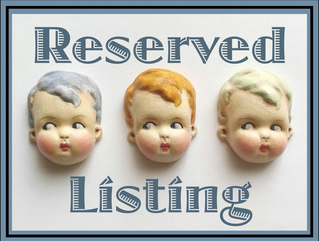 Reserved Listing For Hazel - Dottie Dollie Doll Brooch