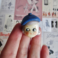 Dottie Dollie Pin Brooch Betty Peek a Boo