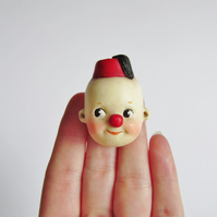Dottie Dollie Cutie the Kewpie Clown in a Fez Brooch