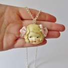 Dottie Dollie Lucy Pink Bows Doll Pendant and Chain